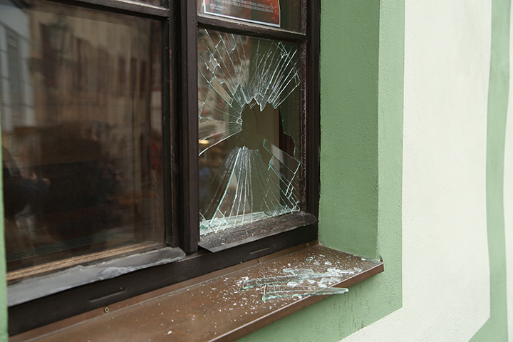 A2B Glass are able to board up broken windows while they are being repaired in Beckenham.